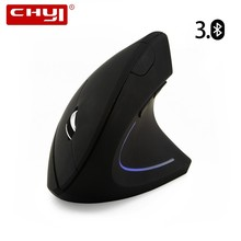 CHYI Bluetooth Wireless Vertical Mouse Ergonomic 1600DPI Optical BT 3.0 Gaming Mice Mause With Rest Mousepad For Laptop Computer