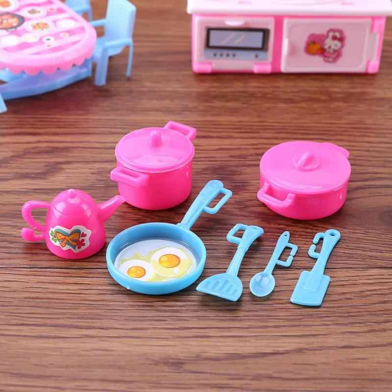 7 PCS Lovely Cute Kitchen Cooling Tools Model Toys Pretend Play Toys For Barbie Accessories Furniture American Girl Doll Toys