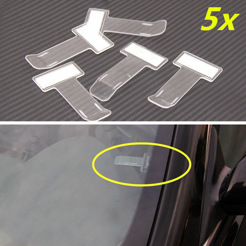 5pcs Car Clips Vehicle Accessory Park Ticket Permitting Card Ticket Holder Clip Sticker Plastic in Auto Fastener Clip from Automobiles Motorcycles