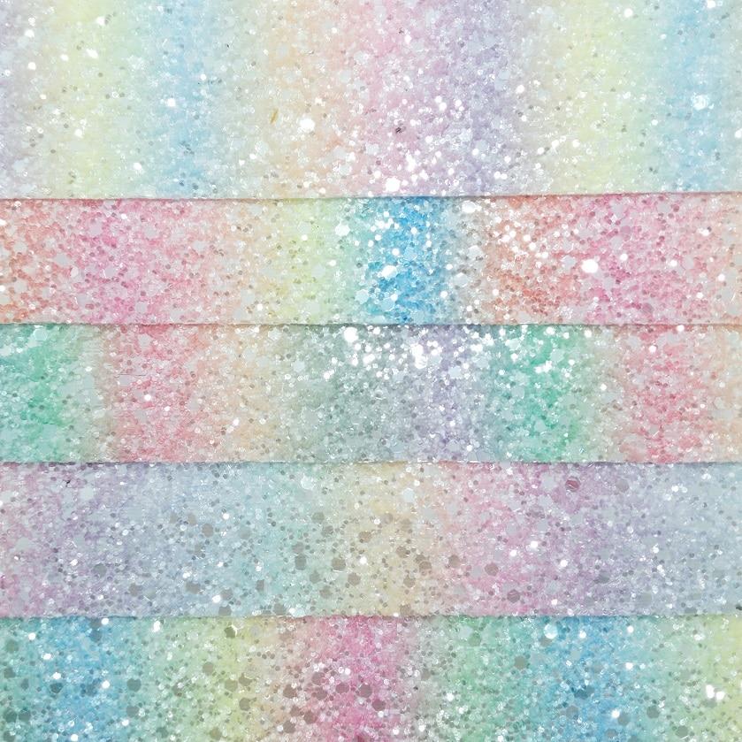Pastel Rainbow Chunky Glitter