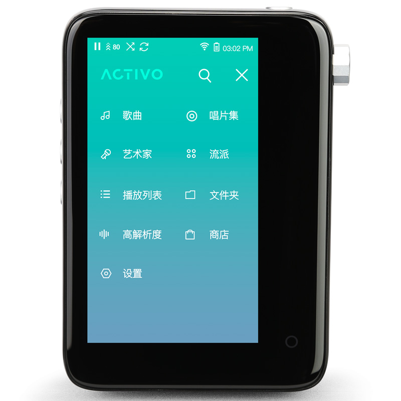 Original IRIVER ACTIVO CT10 HIFI player Lossless music player Full touch screen MP3 player New products