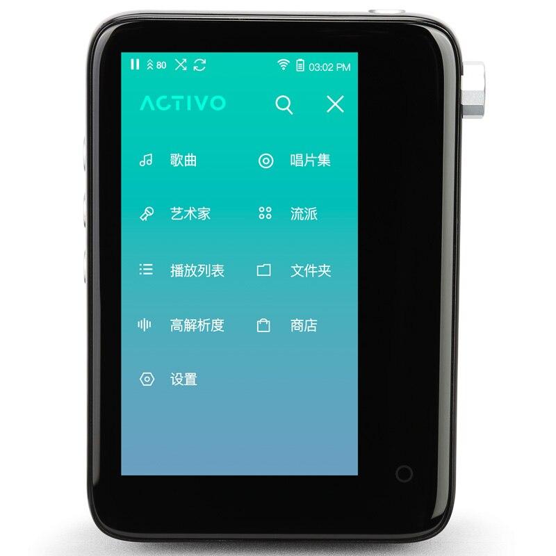 Lecteur HIFI Original IRIVER ACTIVO CT10 lecteur de musique sans perte plein écran tactile lecteur MP3 nouveaux produits cadeau étui en cuir personnalisé