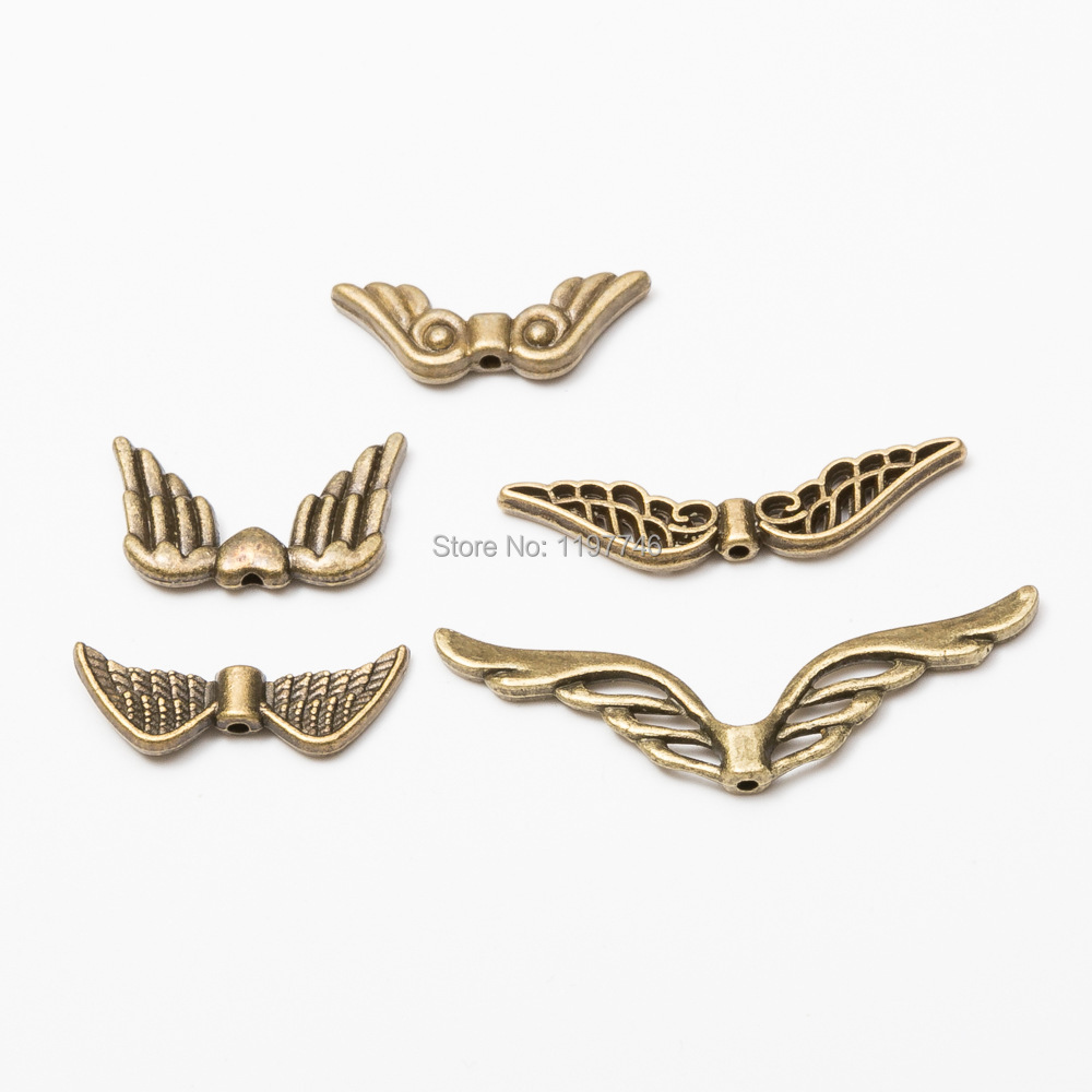 Charm Beads for Kids Angel Wings Charm Pendant Bronze Charms Bird Wings Beads Charms fashion Metal Beads for Jewelry Making image