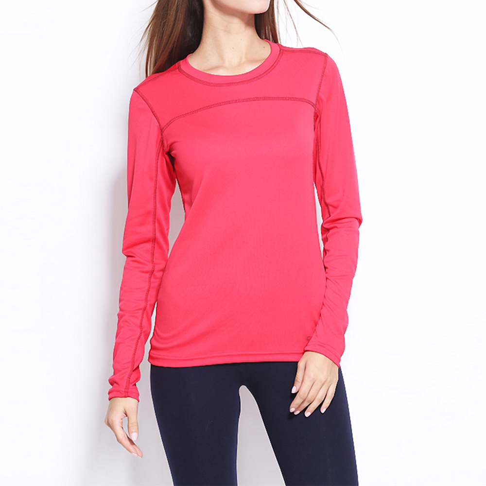 Solid Long Sleeve T-shirts Women Yoga Gym Compression Tights Sportswear Fitness Quick Dry Running Tops Body Shaper Tee Shirts