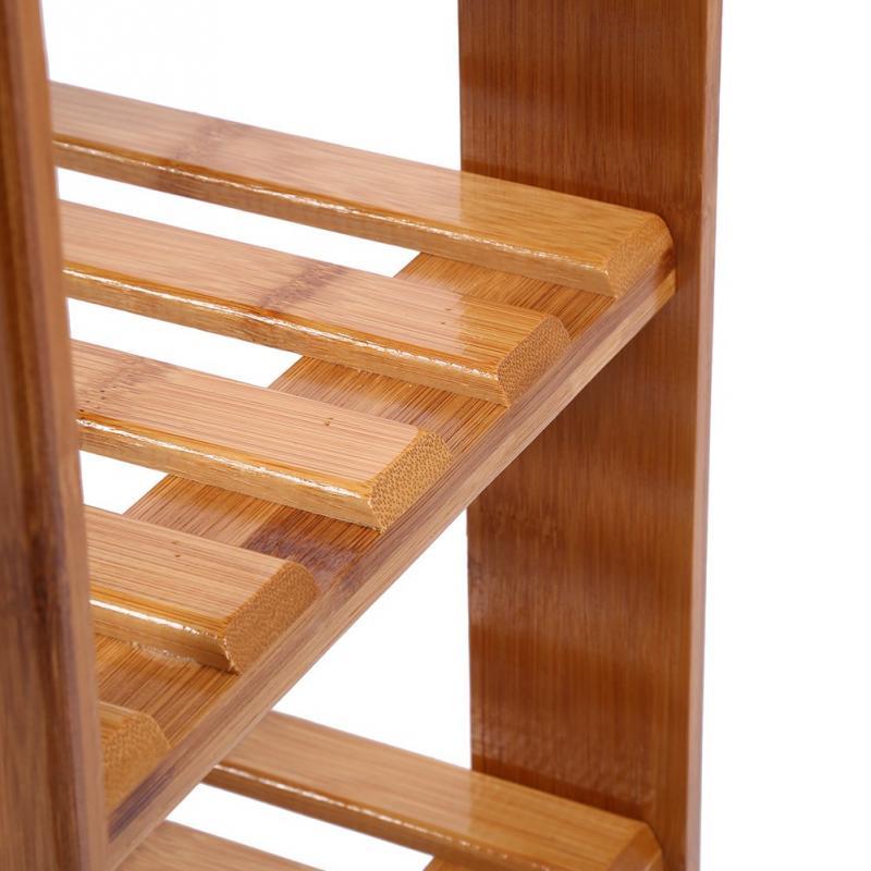 Image 5 - FREE Shipping 2 Tier Solid Wood Shoe Cabinet Nan Bamboo Shoe  Racks Simple Shelves Shelves Flower RacksShoe Racks