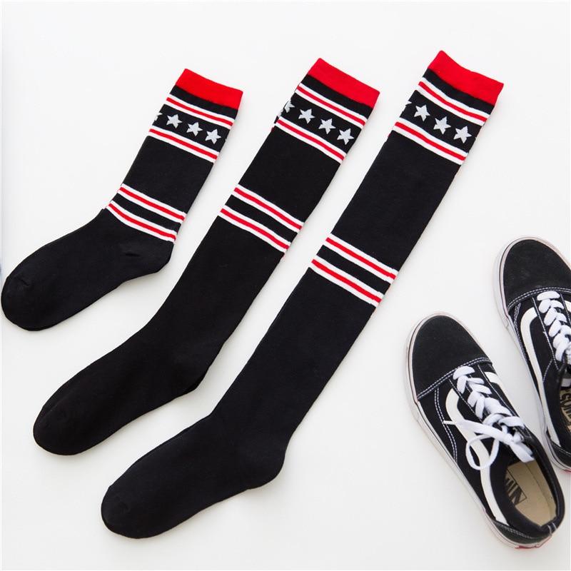 Star Fashion Sexy Warm Thigh High Over The Knee Socks Knitting Long Cotton Stockings Girls Ladies Women  1pair=2pcs X130