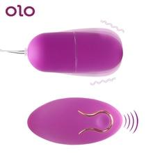 OLO 20 Speed Vibrating Egg Remote Control Powerful Bullet Vibrator G-Spot Massager Clitoris Stimulator Sex Toys for Women
