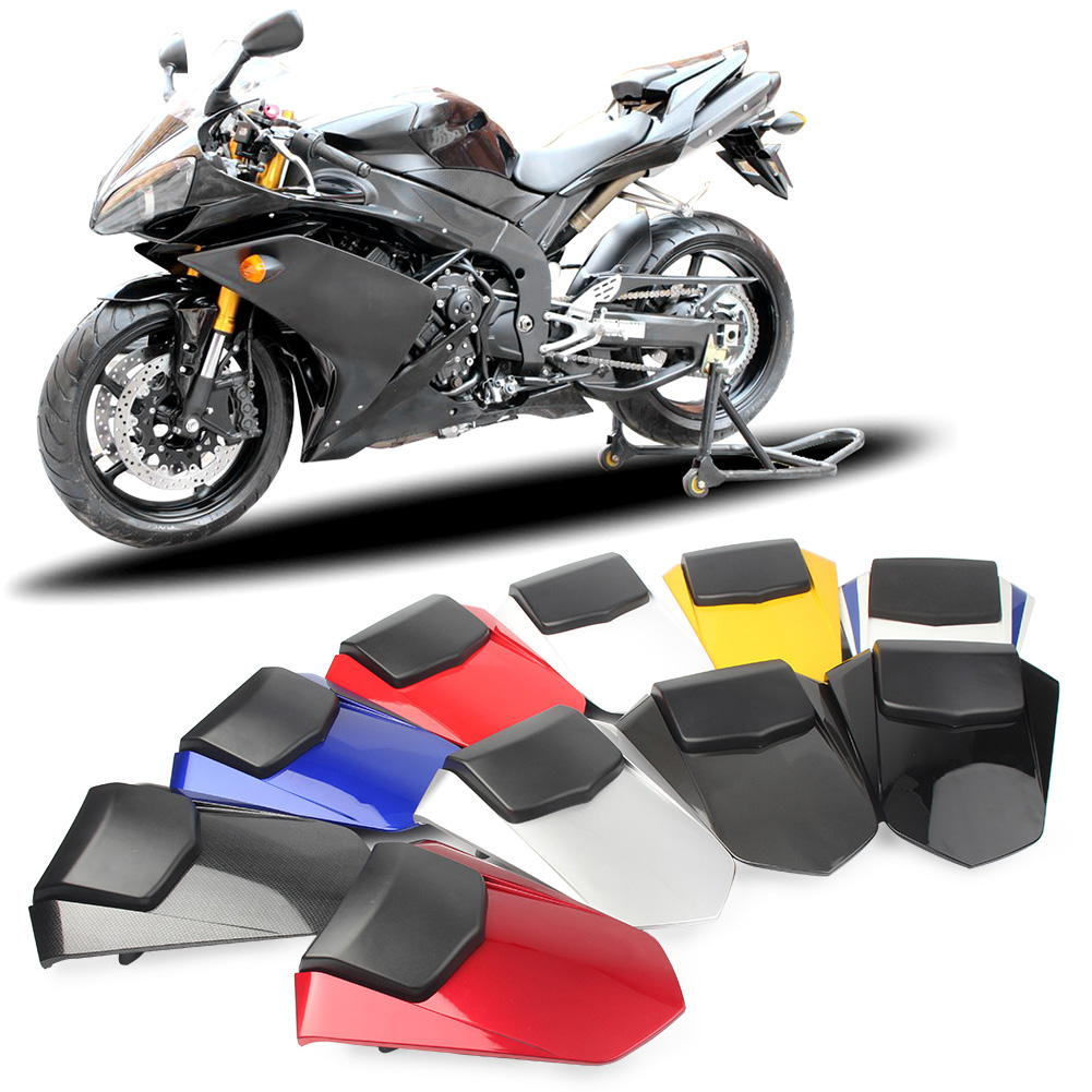 Motorcycle Rear Pillion Passenger Cowl Seat Back Cover Fairing Part For Yamaha YZF R1 2007 2008