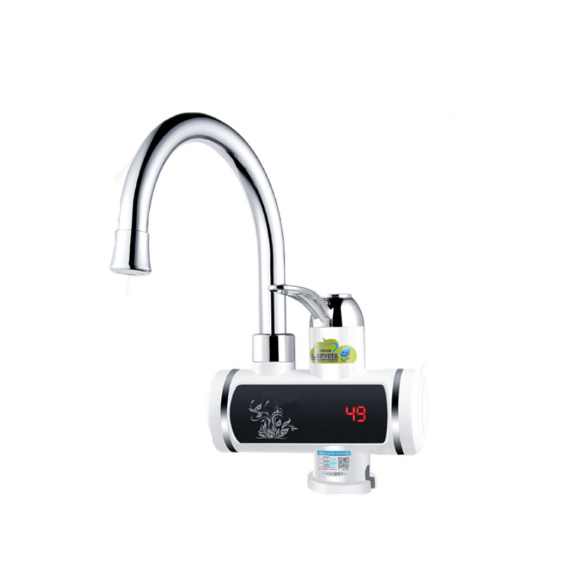 3000W 220V Electric Tankless Water Heater Hot Cold Water Faucet Heater Kitchen Instant Heating Tap Water Heater With LED Display