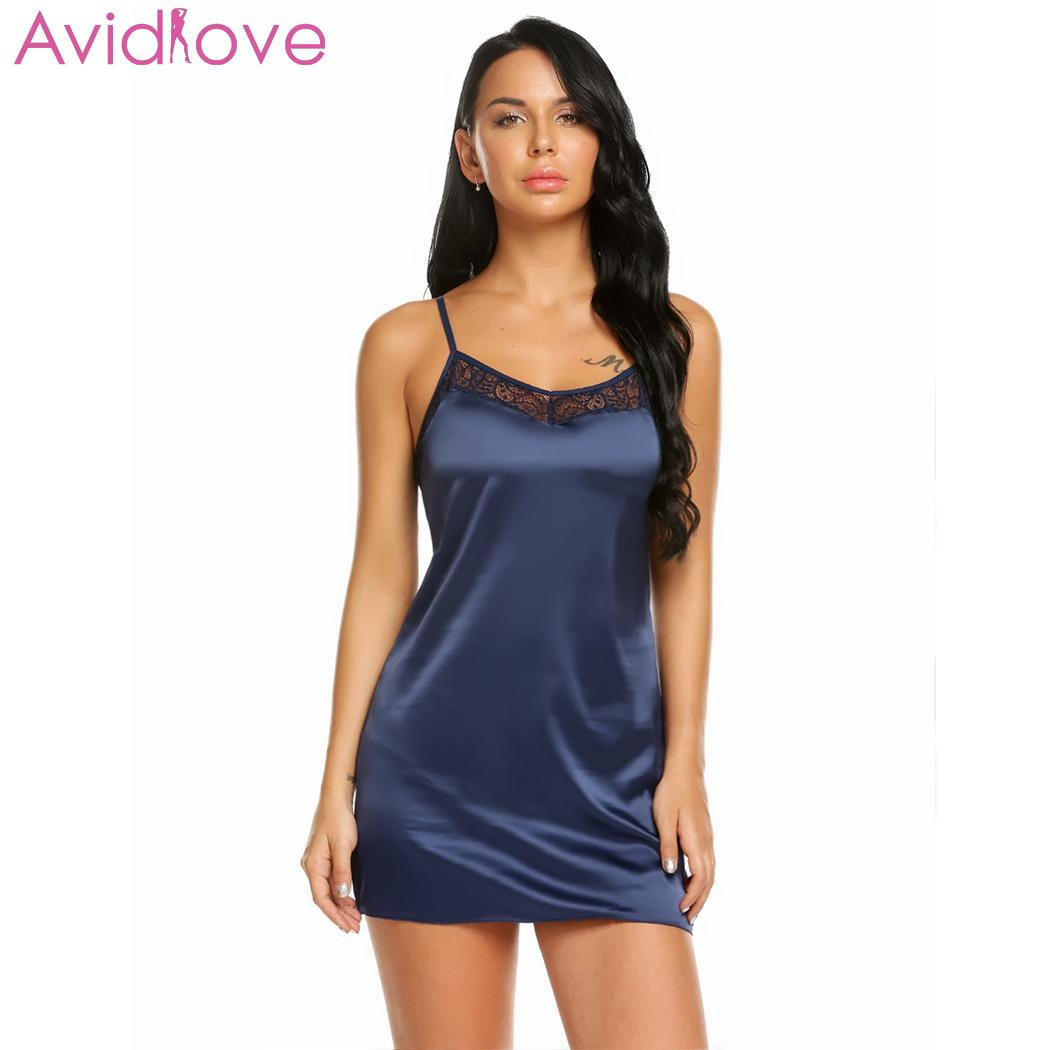 51908528d2 Detail Feedback Questions about Avidlove Lace Stain Women Sexy Nightgown  Sleepwear V Neck Spaghetti Strap Hot Erotic Summer Women Sexy Lingerie  Babydoll on ...