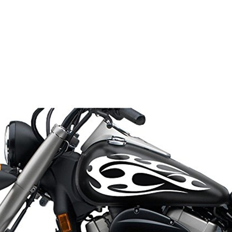 Tank Decal Sticker Vinyl Graphics 42 Motorcycle MotorBike Bike 2 x Flame
