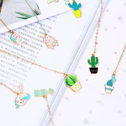 Милый Единорог Закладка Kawaii кактус золото фольга металла Подвески книга Mark для обувь девочек Подарки для школы и офиса поставки корейский
