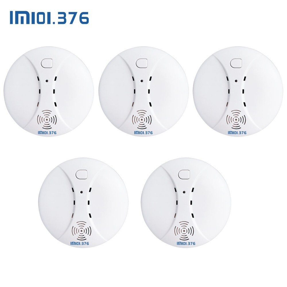 LM101.376 Wireless Fire Protection Smoke Detector Portable Alarm Sensors For Home Security Alarm System In Our Store