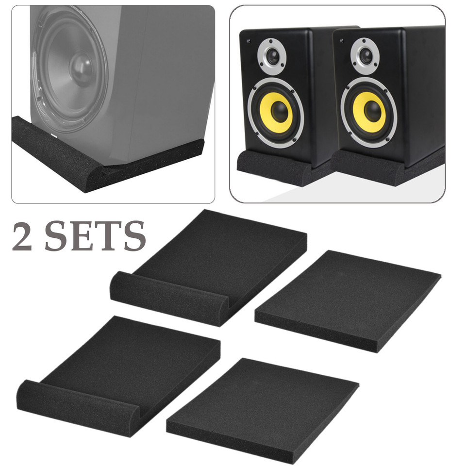 2Pcs/ Set Alctron Studio Monitor Speaker Isolation Acoustic Foam Pads EPP05  Shockproof Acoustic Foam Sound Isolation Sponge Pads| | - AliExpress