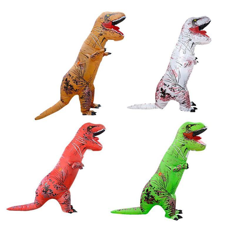 Adulte T-REX Gonflable Costume De Noël Cosplay Dinosaure Animal Salopette Halloween Costume pour Femmes Hommes Bâillons et de Plaisanteries Pratiques