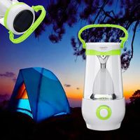 8W LED Camping Light Rechargeable Portable Emergency Light Lantern Stepless Dimmable Solar Light AC110 240V Tent Lamp