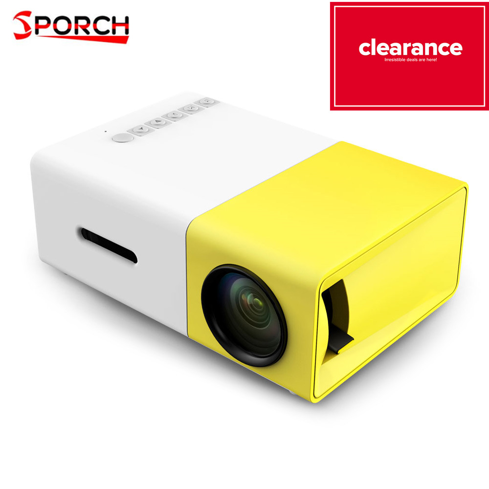 YG300 projecteur à LED portable 500LM 3.5mm Audio 320x240 Pixels HDMI USB Mini projecteur de YG-300 accueil lecteur multimédia Support 1080P