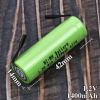 Batterie de rechange pour Braun Oral B brosse à dents électrique 1.2 V 42mm x 14mm Batteries pour Philips Instrument de nettoyage