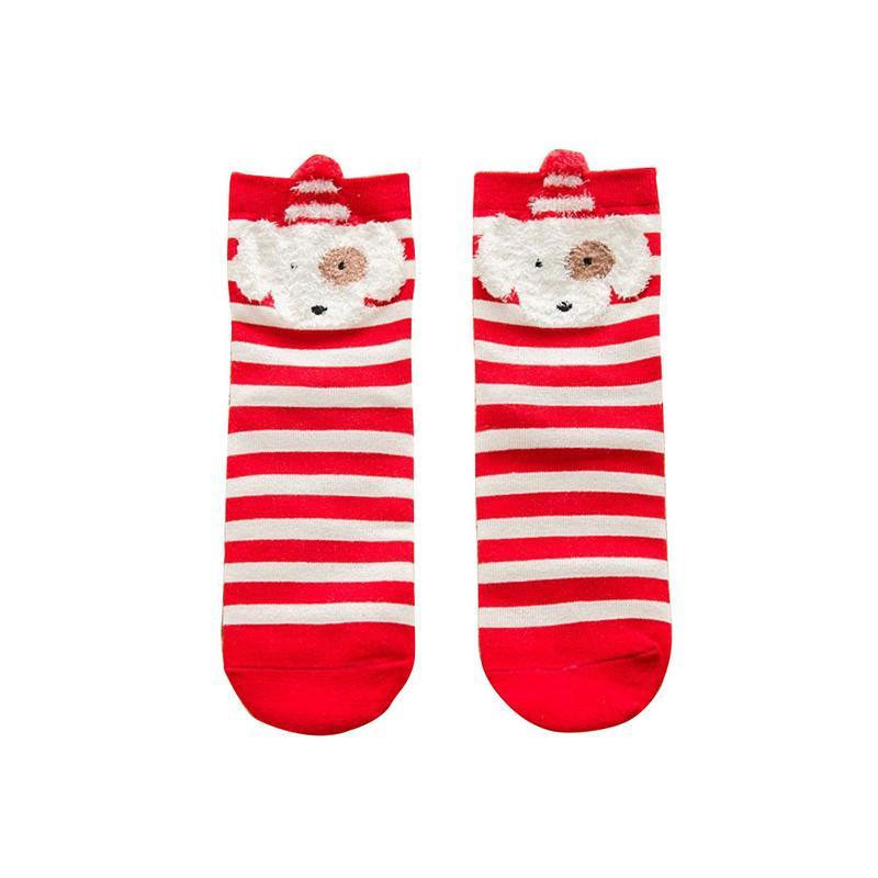 2019 Women Sock Winter Warm Christmas Gifts Stereo Socks Soft Cotton Cute Santa Claus Deer Socks Xmas Christmas Socks Cute in Socks from Underwear Sleepwears