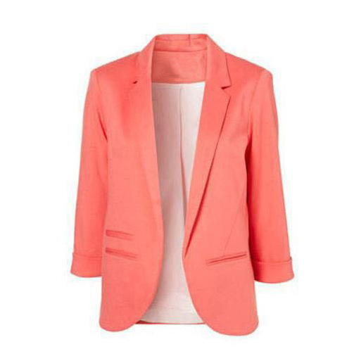 11 Colors Spring Women Blazers Jackets Small Suit Jacket Candy Color Long Sleeve Slim Suit Women Basic Jackets