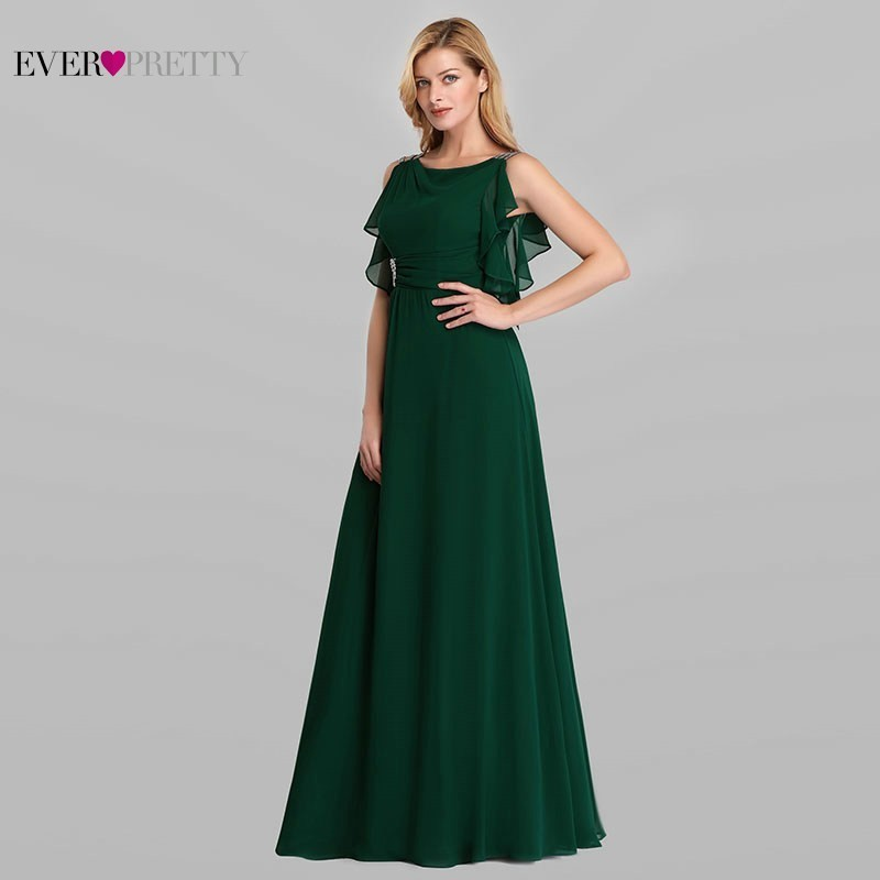 Image 4 - Emerald Green Dresses Ever Pretty EP07891DG Mother Of The Bride Dresses Beaded A Line Sleeveless 2019 Farsali Long Evening Gowns-in Mother of the Bride Dresses from Weddings & Events