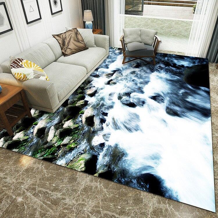Campagne Concise modèle 3D grand tapis pour la maison salon tapis enfants chambre chevet ménage paysage alfombra vloerkleed