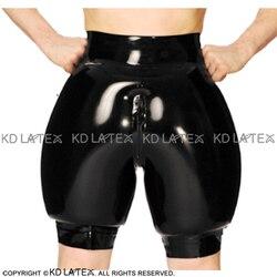 Zwarte Opblaasbare Sexy Latex Boxer Shorts Met Rits Rubber Boy Shorts Onderbroek Ondergoed Broek DK-0180