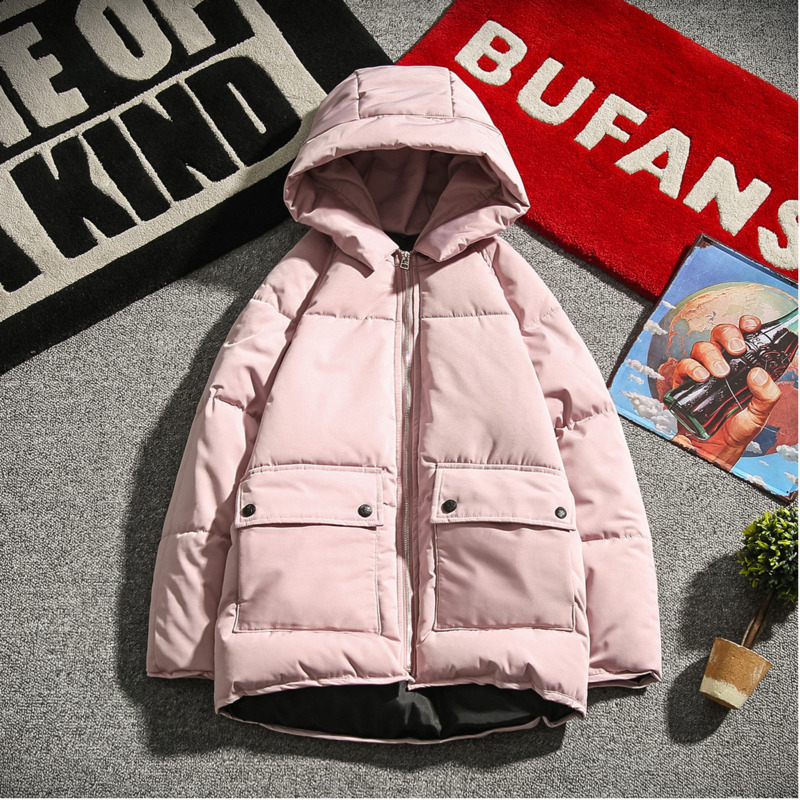 Winter Jacket Men Warm Thick Fashion Cotton Hooded Coat Man Casual Solid Color Loose   Parka   Male Clothes Outwear Streetwear M-3XL