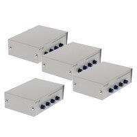 4xPrinter DB9 Pin Serial RS232 Switch Box Manual 4Port Data Sharing Switcher