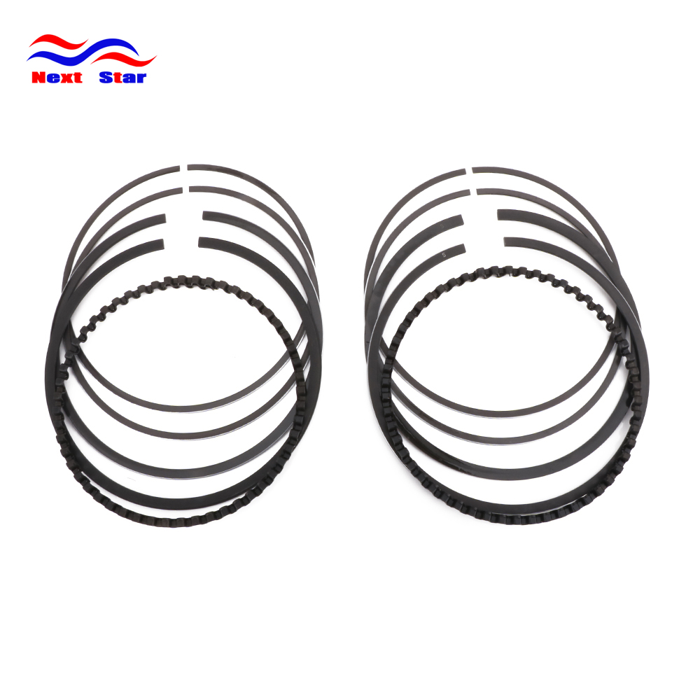 Motorcycle Black 3.498inch Chrome Steel Alloy Rings Piston