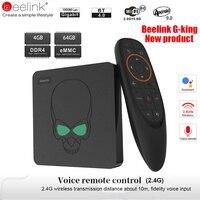 Смарт ТВ бокс Beelink GT King для Android 9,0 Amlogic S922X 4 Гб 64 Гб 2,4 г Голосовое управление 5,8 Г WiFi 1000 Мбит/с LAN телеприставка