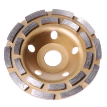 цена на 125mm Diamond Grinding Wheels Cup Double Row Grinding Disc Brick Concrete Cut for Angle Grinder