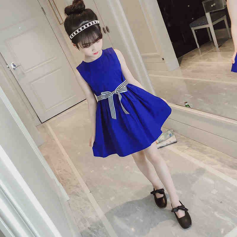 2019 Women Seaside Clothes Youngsters Summer time Sleeveless Black Blue Stunning Birthday Occasion Midi Clothes Youngsters Cute Princess Clothes Clothes, Low cost Clothes, 2019 Women Seaside Clothes Youngsters Summer...