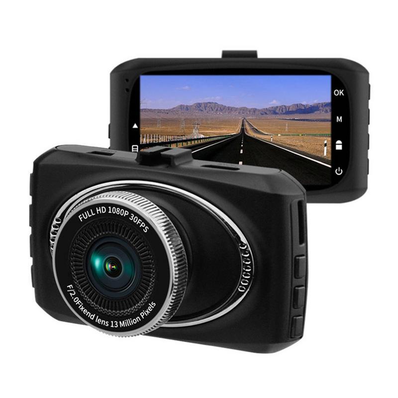 Grand Angle 1080 p Dash Cam Voiture Dash Caméra Vidéo Enregistreur W/Super Nuit Vision Parking Détection De Mouvement Mode 32g L'exposition