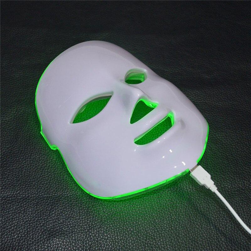 7 couleurs masque LED lumière photothérapie Instrument de beauté galvanique spa soins de la peau machine rides acné solvant outils de soins du visage