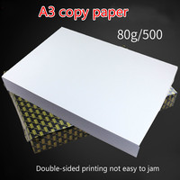 A3 80G 500Sheets full wood pulp photocopy sizes printed white writing paper Manufacturers wholesale office inkjet paper roll