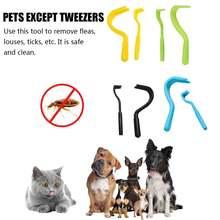 2 шт домашних животных инструмента для клещей двойной зубов