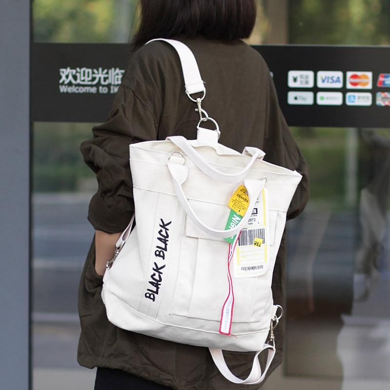 Korean Style Casual Canvas Shoulder Bag Luxury Handbags Women Bags Designer Back Pack Big Capacity Ladies Hand Bag For Women Sac