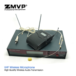 Professional EW122G2 UHF Wireless Microphone Karaoke System with EW100G2 Cordless Bodypack Transmitter Headset Headworn Mic Mike