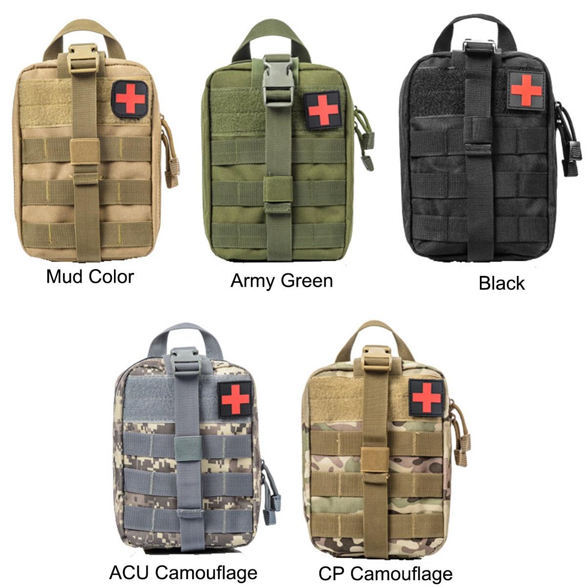 600D Nylon Tático Ao Ar Livre Saco Médico Kit de Primeiros Socorros Multifuncional Pacote de Viagem Saco de Acampamento de Escalada Caso de Sobrevivência de Emergência