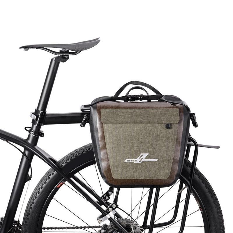 19L Full Waterproof Bicycle Saddle Bag Road Mountain Bike Cycling Rear Rack Bag Luggage Pannier Rear Seat Shelf Bag Dropshipping
