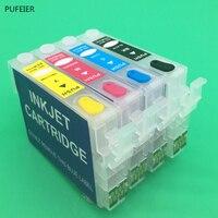 T2001 T200XL1-T200XL4 Refillable Cartridge With Chip For Epson XP-200 XP-300 XP-400 XP-310 XP-410 XP-510 WF-2520 WF-2530 WF-2540
