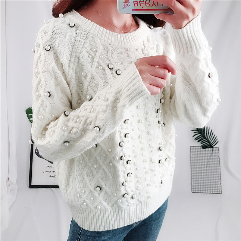 Suéter Mujer Suéteres La Ropa Mujeres Casual Blanco Invierno Dulce ...