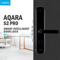 Крепление для спортивной камеры Xiao mi Aqara S2 Pro умный дверной замок интеллигентая (ый) пароль по отпечатку пальца ключ разблокировки приложени