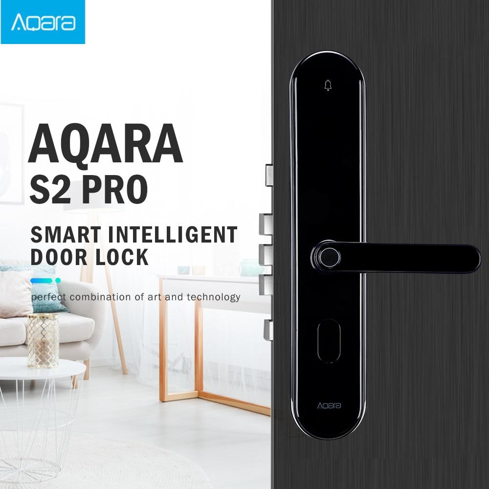 Xiao mi Aqara S2 Pro Inteligente Fechadura Da Porta Senha Fingerprint Desbloqueio Chave Inteligente APP Real-Time Monitor de Bloqueio de Privacidade mi Casa