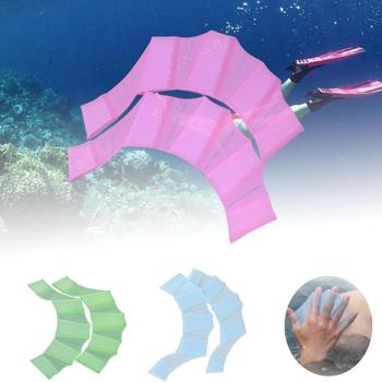 1 Pair High Quality Unisex  Type Silicone Girdles Swimming Hand Fins Flippers  Finger Webbed Gloves Paddle Water Sports