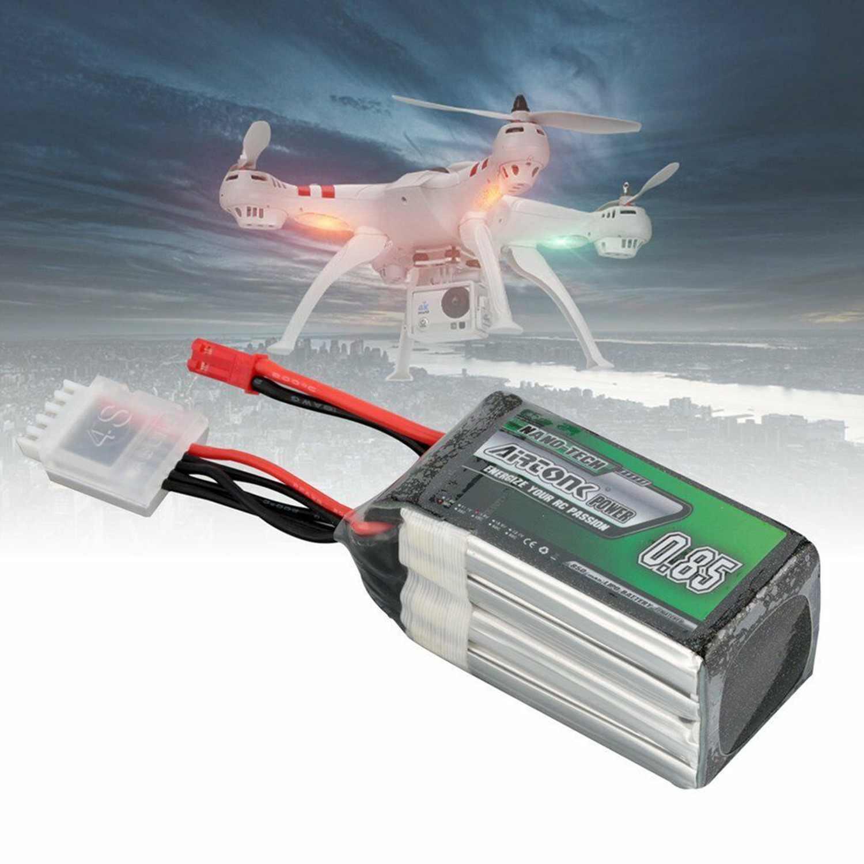 Airtonk 14.8V 850Mah 30C 4S 1P Lipo Battery Jst Plug For Rc Drone Car