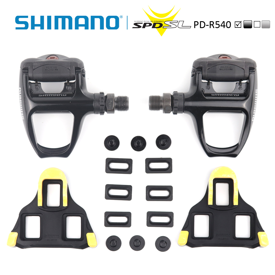 Shimano PD R540 pedal self locking Spd pedals spd sl bicycle racer R540 pedal black silver for road bike SPD-in Bicycle Pedal from Sports & Entertainment    1