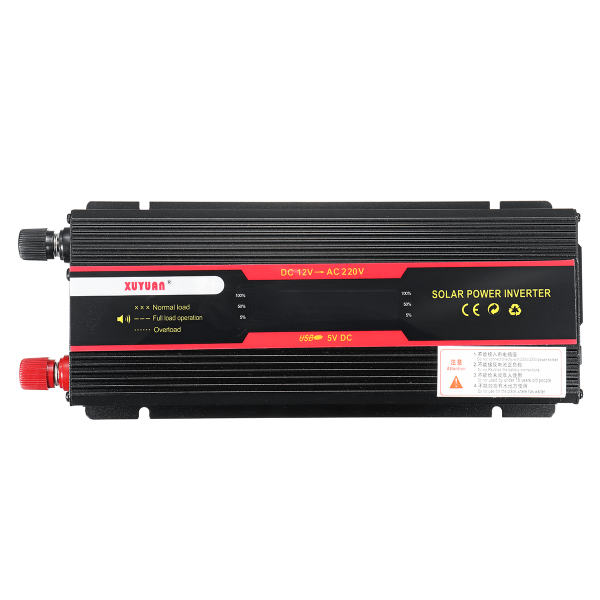 Onduleur de voiture 12 V 220 V 6000 W Pe ak convertisseur de tension convertisseur de tension transformateur 12 V/24 V à 110 V/220 V Inversor + écran LCD - 3