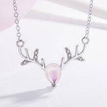 Elk Antler Bubble Design Gem Women Necklace Silver Elk Antler Choker Simple Elegant Necklace For Women Friend Jewelry Gift antler marcus page 8